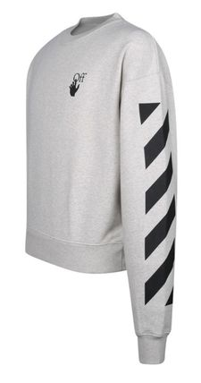 Off-White Sweatshirts Unisex Street Style Long Sleeves Cotton Sweatshirts 3