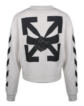 Off-White Sweatshirts Unisex Street Style Long Sleeves Cotton Sweatshirts 5