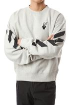 Off-White Sweatshirts Unisex Street Style Long Sleeves Cotton Sweatshirts 11