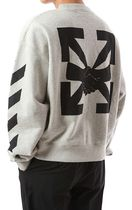 Off-White Sweatshirts Unisex Street Style Long Sleeves Cotton Sweatshirts 14