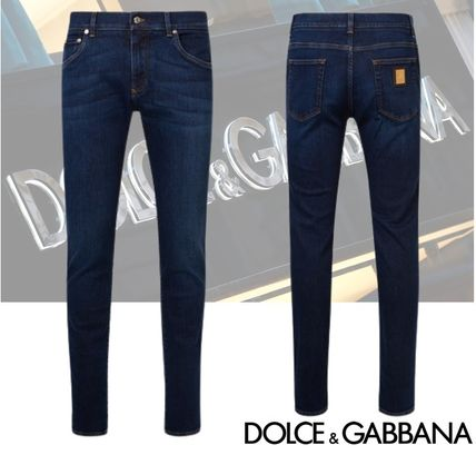 Dolce & Gabbana More Jeans Denim Plain Cotton Logo Jeans