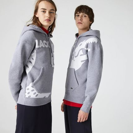 LACOSTE Hoodies Pullovers Sweat Street Style Long Sleeves Plain Cotton Logo 3