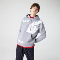 LACOSTE Hoodies Pullovers Sweat Street Style Long Sleeves Plain Cotton Logo 4