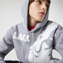 LACOSTE Hoodies Pullovers Sweat Street Style Long Sleeves Plain Cotton Logo 8