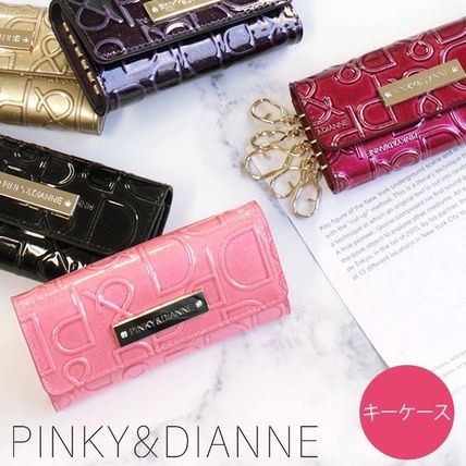 Pinky&Dianne Leather Logo Keychains & Bag Charms