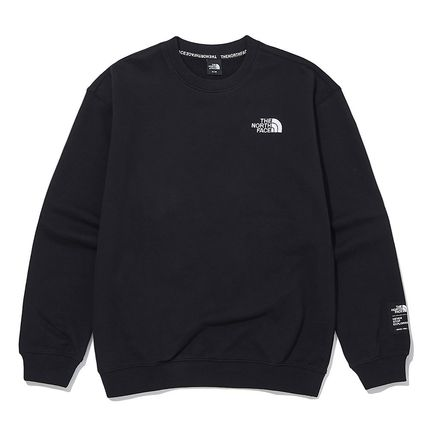 THE NORTH FACE Unisex Street Style Long Sleeves Plain Cotton Logo Outdoor