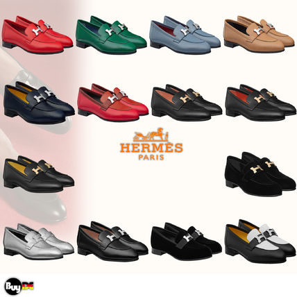 HERMES Paris Leather Loafer & Moccasin Shoes
