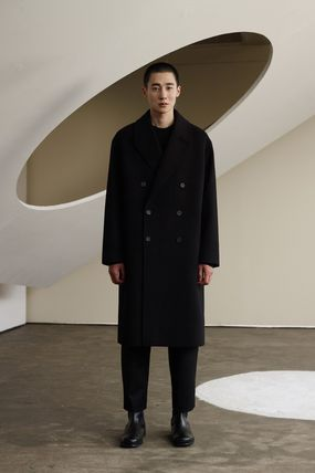 Wool Cashmere Street Style Plain Long Oversized
