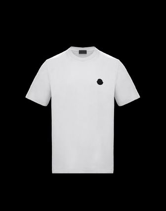 MONCLER Crew Neck Street Style Plain Cotton Short Sleeves Logo