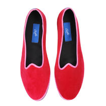 Chatelles Round Toe Casual Style Velvet Plain Slippers Shoes