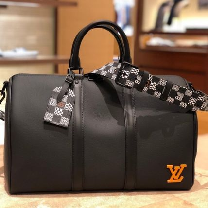 Louis Vuitton DAMIER Other Plaid Patterns Unisex Blended Fabrics Street Style