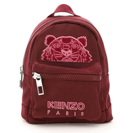 KENZO Nylon Logo Backpacks