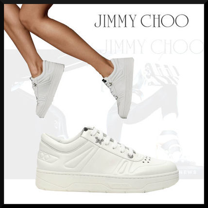 Jimmy Choo Casual Style Street Style Plain Leather Logo