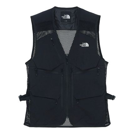 THE NORTH FACE Unisex Street Style Plain Logo Outdoor Vests & Gillets