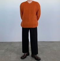 HUE Sweaters Unisex Street Style Collaboration Plain Oversized Sweaters 8