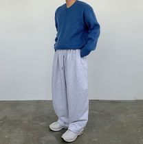 HUE Sweaters Unisex Street Style Collaboration Plain Oversized Sweaters 15