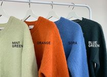 HUE Sweaters Unisex Street Style Collaboration Plain Oversized Sweaters 17