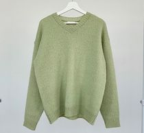HUE Sweaters Unisex Street Style Collaboration Plain Oversized Sweaters 18
