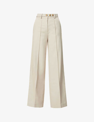 Casual Style Street Style Plain Long Center Pressed