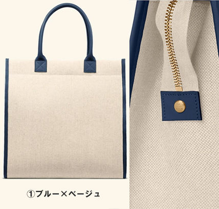 Casual Style Canvas 2WAY Plain Office Style Elegant Style