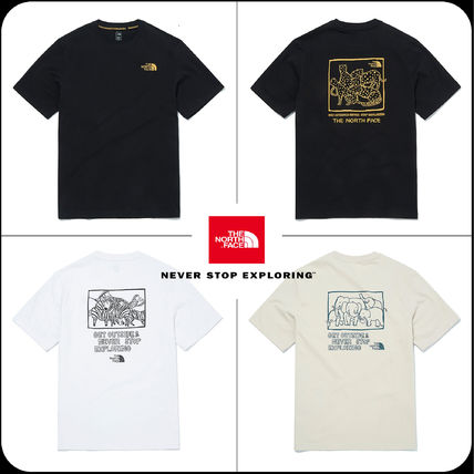 THE NORTH FACE More T-Shirts Unisex Street Style Plain Logo Outdoor Graphic Prints