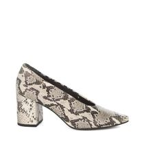 Seychelles Casual Style Leather Block Heels Party Style Python