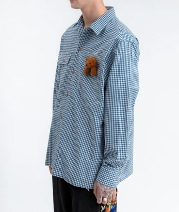 doublet Shirts Button-down Gingham Street Style Long Sleeves Cotton 2