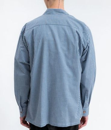 doublet Shirts Button-down Gingham Street Style Long Sleeves Cotton 3