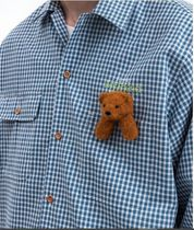 doublet Shirts Button-down Gingham Street Style Long Sleeves Cotton 4