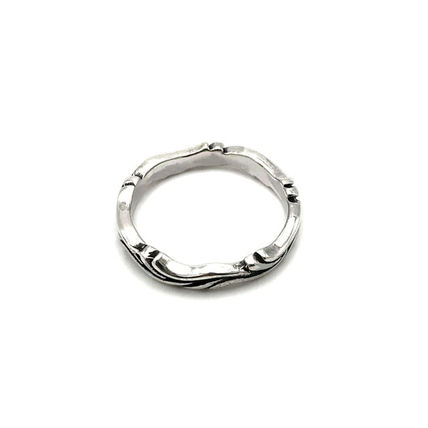 Unisex Studded Plain Handmade Silver With Jewels Rings