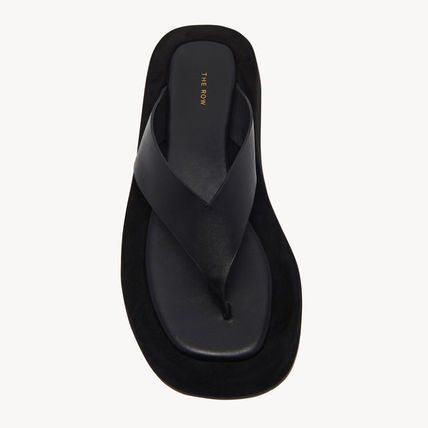 The Row Rubber Sole Casual Style Unisex Street Style Plain