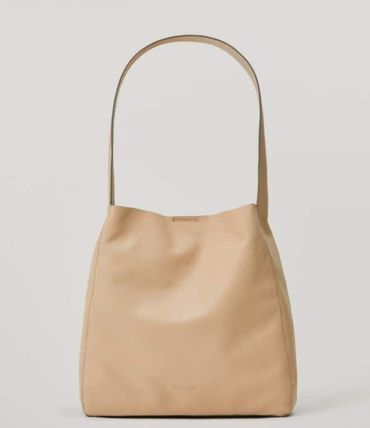Massimo Dutti Totes Casual Style Plain Leather Elegant Style Formal Style  Totes 3