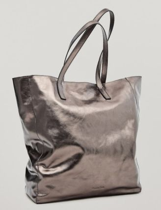 Casual Style Plain Leather Elegant Style Formal Style  Totes
