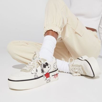 Platform Round Toe Casual Style Collaboration