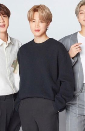 SOLID HOMME ★SOLID★BTS JIMIN cashmere-blend round neck sweater