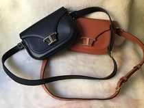 TOD'S Casual Style Calfskin 2WAY Plain Leather Party Style