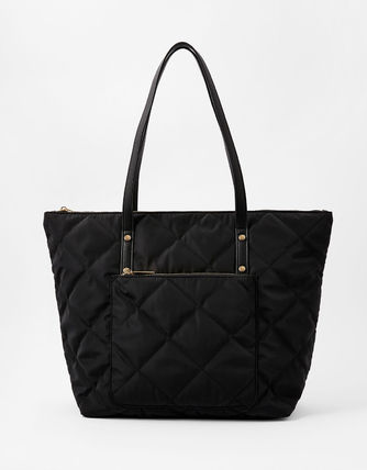 Casual Style Nylon A4 Plain Office Style Elegant Style Totes