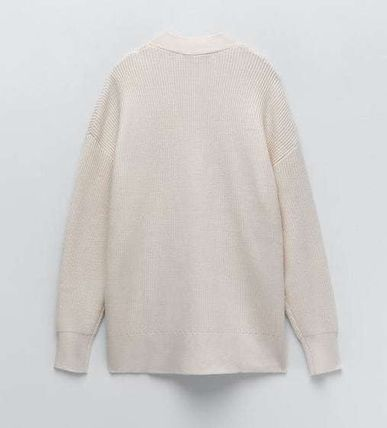 ZARA Casual Style Long Sleeves Plain Cardigans