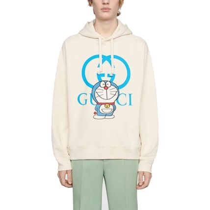 GUCCI Street Style Collaboration Long Sleeves Cotton Logo Luxury