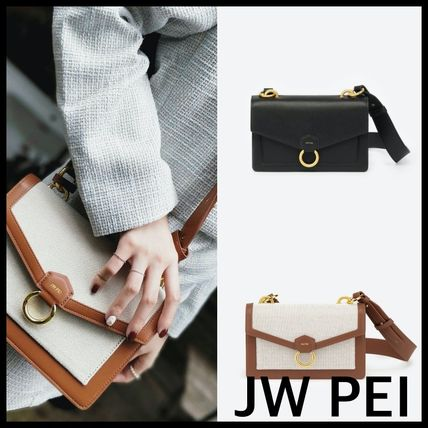 Casual Style Plain Crossbody Formal Style  Shoulder Bags