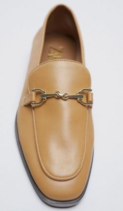 ZARA Casual Style Leather Elegant Style Loafer & Moccasin Shoes