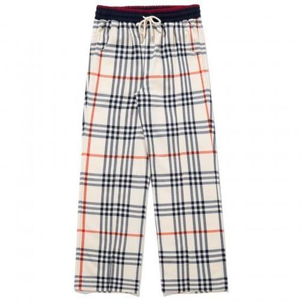 Slax Pants Other Plaid Patterns Unisex Street Style