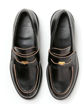 sacai Logo Loafers Leather Street Style Loafers & Slip-ons