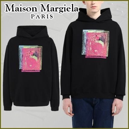 Maison Margiela Hoodies Pullovers Street Style Long Sleeves Cotton Oversized Logo