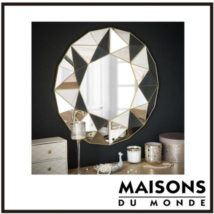 Unisex With Jewels Glitter Mirrors Mirrors