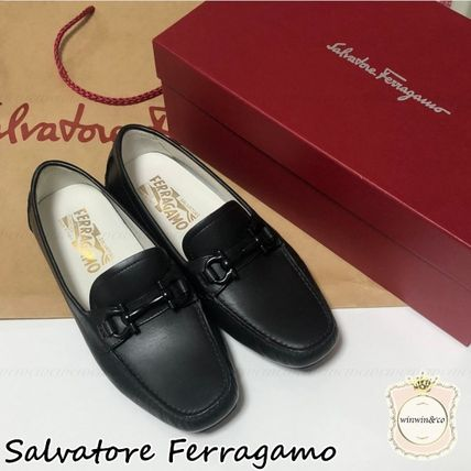 Salvatore Ferragamo Casual Style Leather Loafer & Moccasin Shoes