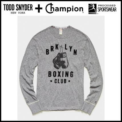 CHAMPION Long Sleeve Crew Neck Collaboration Long Sleeves Cotton