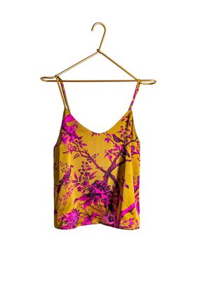 JAKOB SCHLAEPFER Flower Patterns Silk Slips & Camisoles