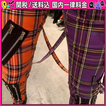 DOLLS KILL Other Plaid Patterns Casual Style Unisex Bi-color Cotton