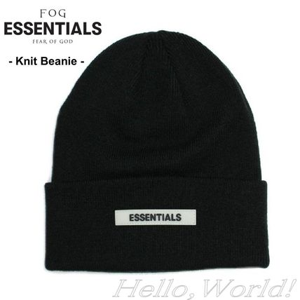 FEAR OF GOD ESSENTIALS Unisex Blended Fabrics Street Style Knit Hats